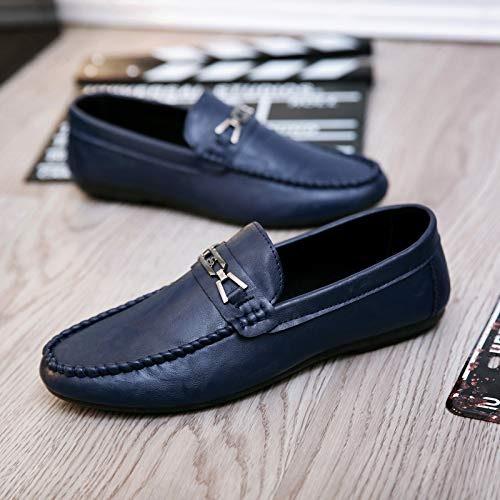 LOVDRAM Chaussures en Cuir pour Hommes Chaussures en Cuir Noires pour Hommes