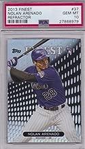 2013 Topps Finest REFRACTOR Nolan Arenado Colorado Rockies Baseball Rookie Card Graded PSA 10 GEM MINT #37