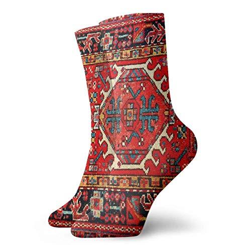 GHJL Iran-Socken, persisch, orientalisch, iranisch, ethnisch, traditionell, Tribal, Crew-Socken, Sportsocken, Strümpfe, 30 cm
