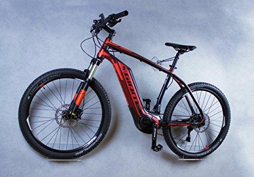 Fahrrad Wandhalterung von trelixx,kompatibel mit E-Bikes, gelasert, Design Fahrrad-Wandhalter aus Plexiglas® Acrylglas, platzsparende Fahrradaufbewahrung zugelassen für schwere Räder Wandmontage