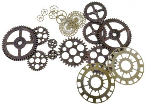 Forum Novelties BA1709 Steampunk Gears, Herren, Damen, Gold, Bronze, Einheitsgröße
