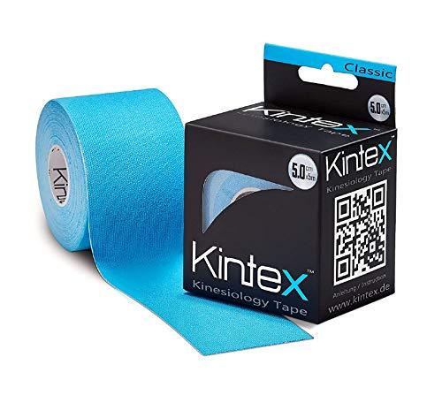 Kintex Kinesiologie Tape Classic Blau 5cm x5m, Physio-Tape, Therapie-Tape, elastisch, wasserfest