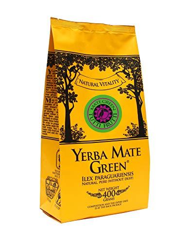 Mate Green Yerba TUTTI FRUTTI Brasilianischer Waldfrüchte Tee 1000g Fruchtiger Tee mit Brombeerfrüchte Heidelbeere Holunderfrüchte Aronia und Waldobstaroma, Blueberry, 1000 gramm