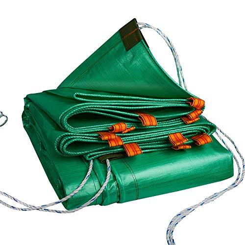 ZXCVASDF Tarp, Cubierta de Lona de Polietileno Verde de 0,43 mm, Lona Ajustable de camión, Lona a Prueba de lágrimas con Cuerda de Actividad, para Carpa, Barco, RV o Cubierta de Piscina,400cmx600cm