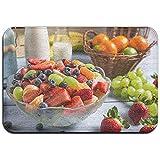 Snbin Alfombrilla Antideslizante Resistente a la decoloración de la Puerta Ensalada de Frutas Frescas Alfombra Interior para Sala de Estar 40 * 60 cm
