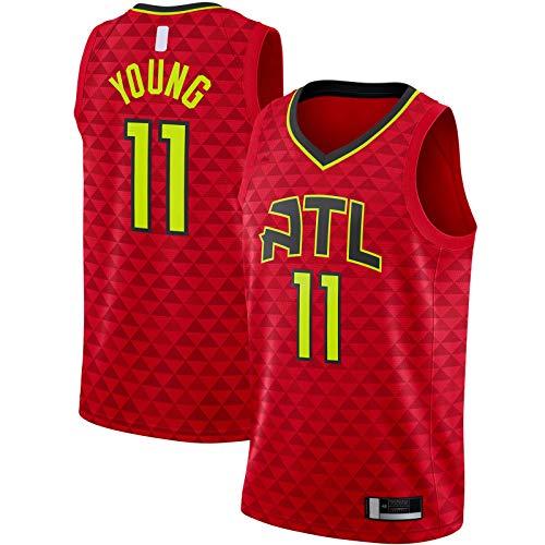 Trae Top - Camiseta de baloncesto sin mangas con diseño de Hawks de Atlanta, talla XL, color rojo