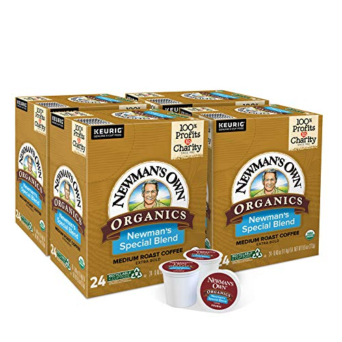 Newman's Own Organics Special Blend, Single-Serve Keurig K-Cup Pods, Medium Roast Coffee, 96 Count