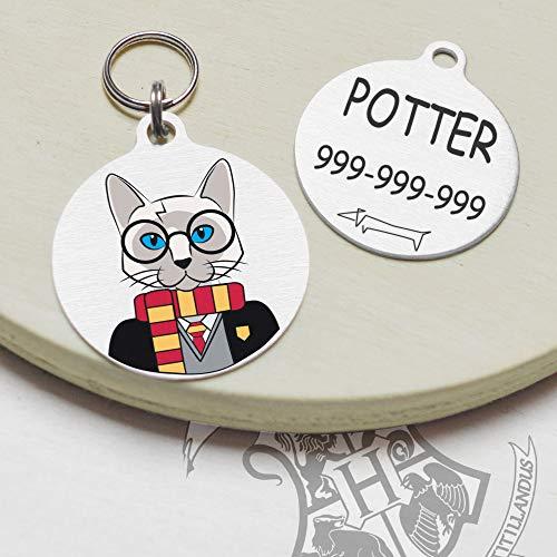Snout Fashion Pottercat - Cartellino identificativo per Gatti - Harry Potter nel Mondo dei Gatti