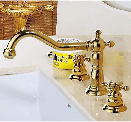 qx Grifo Del Lavabo Grifo Del Lavabo Del Baño Grifo Del Fregadero de la Cocina Grifo de Lavabo de Lujo de Moda Grifo de Agua de Alta Calidad Material de Latón Chapado en Oro Grifo de Lavabo Generaliz