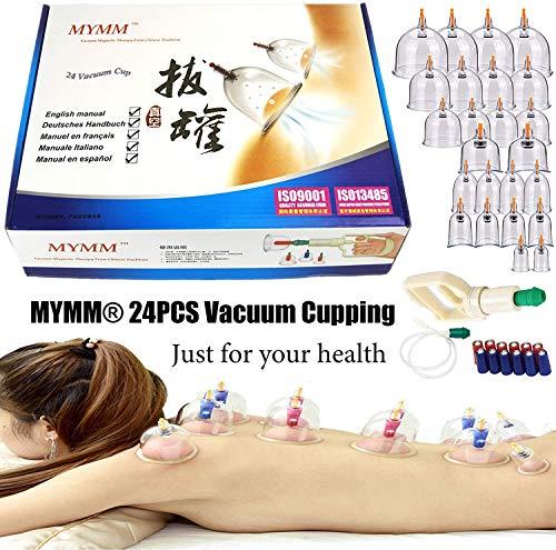 24*cupping/Schröpfen Ausrüstung set,Biomagnetische traditionelle Chinesische Therapie Schröpfen Set Haushalt ausziehen Vakuum Hijama Kit/Chinesisch Massage Medical Schröpfen Set Saug Akupunktur
