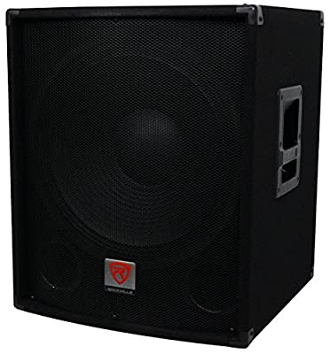 "Rockville SBG1184 18"" 1000 Watt Passive 4-Ohm Pro DJ Subwoofer, MDF/Pole Mount by Rockville"