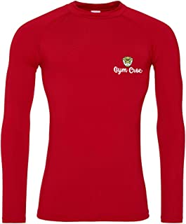 Star and Stripes GymCroc Gym Clothes for Men – Cool Gym Wear Long Sleeve Baselayer – Sportswear Top in Cool Wicki Fabric –...