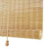 NIANXINN Tapparella Avvolgibile Bamboo,Tende a Rullo in bambù Naturale,Veneziane per Finestre,Cortina di bambù per Soggiorno/Ufficio/Balcone/Divisorio,con Raccordi,Personalizzata(60x120cm/24x47in)