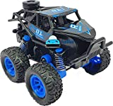 FunBlast Mini Monster Truck Toy - Friction Power Push and Go Crawling Rock Crawler Toy Vehicles for Kids|Boys-Random Color-1 Pcs