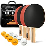 ProSpin 4-Player Table Tennis Set - Includes 4 High Performance Ping Pong Paddles
