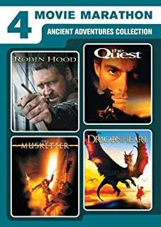 4 Movie Marathon: Ancient Adventure Collection (Robin Hood / The Quest / The Musketeer / Dragonheart)
