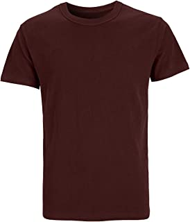 Funny World Men's Solid Cotton Thick T-Shirts