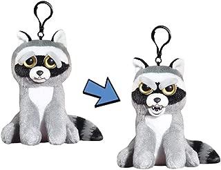 Feisty Pets Mini Rascal Rampage the Raccoon Plush Interactive Keychain