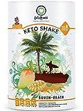 KetoMeals Keto Shake South-Beach (30 Portionen) Abnehmen Shake für Keto Diät mit Mango Geschmack | Low Carb Lebensmittel | Ketose Protein Pulver | Ideale Makros für Ketogene Ernährung, 450 GR