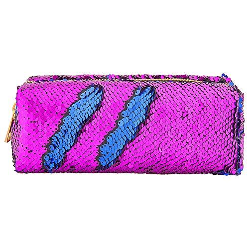 MHJY Mermaid Sequin Pencil Case Magic Sequins Cosmetic Bag Makeup Pouch Glitter Color Changing Stationary Case Reversible Sequins Makeup Organizer Handbag
