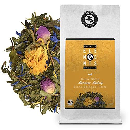 """""""Morning Melody"""" Bio Grüner Tee Lose mit Mango Orangen Bergamotte Geschmack, Aromatisierte Teemischung (ca. 40 Tassen) 100 Gramm Tüte von alveus Premium Teas"""