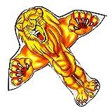 hgfcdd Cometa de tigre/león fácil de volar y platillo volador para adultos y niños. La mejor opción para actividades al aire libre en la playa cometa para niños fácil de volar