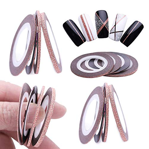Nageldesign Nail Art Stripes,Liwein 40 Rollen Zierstreifen Striping Tape Streifen Nail Art Stripes Sticker Nageldesign Deko DIY Nagelstudio
