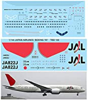 デカール 1/144 JAPAN AIRLINES BOEING 787 787-8 DECALS TB DECAL TBD106
