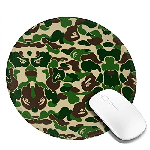Bape Army Military Camoflague Pattern Mousepad Non-Slip Rubber Gaming Mouse Pad Mouse Pads for Computers Laptop 8.0x8.0 in