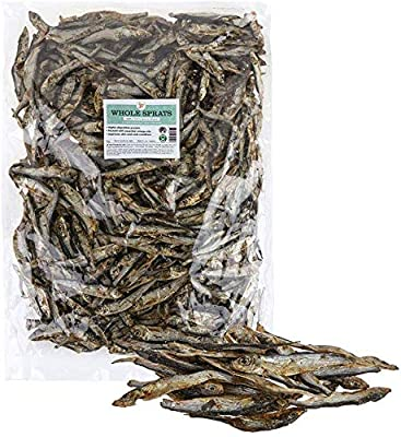 J R Pet Products Dried Whole Baltic Sprats 1Kg Natural Dog Treat