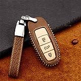 meDKO Carcasa para Llave de Coche, para Audi TT TTS RS Q2 Q3 Q5 Q7 e-Tron Quattro SLINE A1 8X A3 Sportback A4 A5 A6 A7 A8 S3 Carcasa de la Cubierta del botón de la Llave del Coche