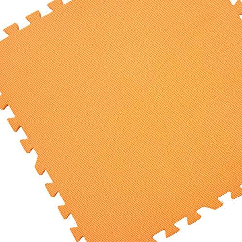 Mats Eva 60CMx60CMx60CMx12MM Interlocking Boden Activity Play Soft Foam Kinder Kinder Tiles 4Pcs (Color : Orange)