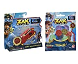 Toys for Boys, Zak Storm Bundle of 2 Amazing Items, 1 Zak's Hover Vehicle with Action Figure and 1 Pack of 4 Collectible Treasure Coins with Unique QR Code for Ages 4 Years Old and Above, 2 Counts