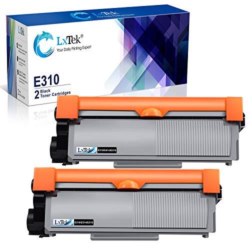 LxTek Compatible Toner Cartridge Replacement for Dell E310dw P7RMX PVTHG 593-BBKD E310 E514 E515 to use with Wireless Monochrome E310dw E515dw E514dw E515dn Printer(2 Black, High Yield 2600 Pages)