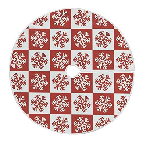 RURUTONG Merry Christmas Snowflake Christmas Tree Skirt Large Double Layers Tree Holiday Decorations for Christmas Decorations Xmas Ornaments 47.2 inch2010101
