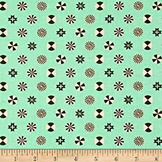 FreeSpirit Fabrics 0521764 Tula Pink Holiday Homies Peppermint Stars Pine Fabric by The Yard