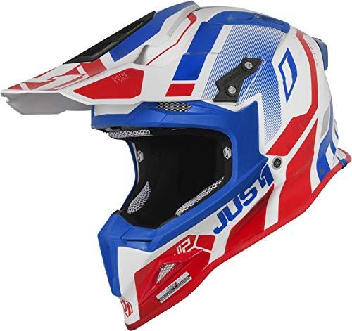Just1 J12 Vector Casco di motocross Bianco/Blu/Rosso