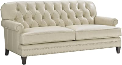 Amazon.com: Traditional Tufted Chaise Lounge in Grey Linen ...