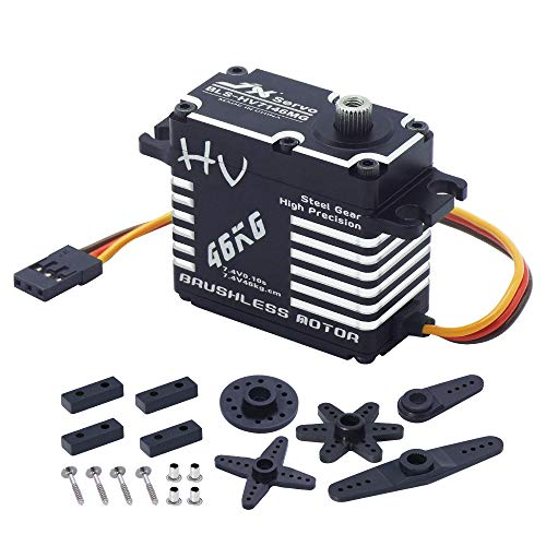 JX Servo BLS-HV7146MG 46kg Brushless High Precision Steel Gear Full CNC Digital Servo Motor for RC Car Robot Arm Helicopter Airplane Parts