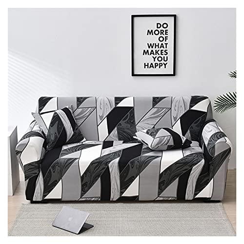 OYZK Cubierta de sofá Floral de Estiramiento, sofá elástica Cubiertas para Sala de Estar Sofá Funda Fundas Fundas Sofás con Chaise Longue 1pc (Color : 30, Specification : 4 Seater 235 300cm)