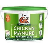 6X 8 kg Pelleted Chicken Manure Organic Fertiliser