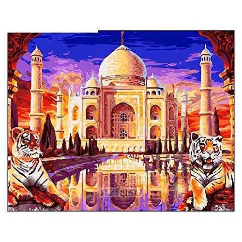 Puzzle 1500 Piezas Adulto 2 Tigres Frente Al Taj Mahal