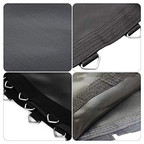Trampoline Replacement Jumping Mat for 6ft/8ft/10ft/12ft/13ft/14ft/15ft/16ft, Garden Trampoline Replacement Mat Suitable for Round Trampolines, Black