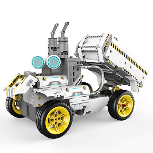 UBTECH JIMU Robot Builderbots Series: Overdrive Kit / App-Enabled Building and Coding STEM Learning Kit (410 Parts and Connectors), Yellow