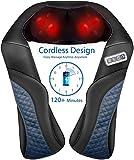 MaxKare Wireless wiederaufladbares Massagegerät Nackenschulter Rücken Shiatsu Nackenmassagegerät mit Wärmefunktion 3D-Rotation Elektrische Massage Home & Office Relax