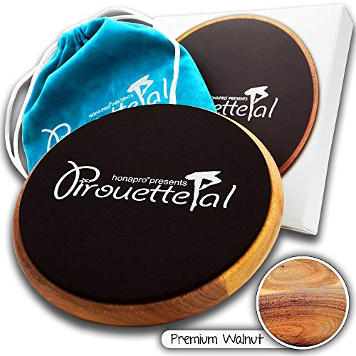 HONAPRO Turn Board for Dancers - The PirouettePal Turn Disc is a High-End Walnut Turn Disk for Dance, Ice Skating, Gymnastics, Ballet, Balance, Spinning - Turn Boards for Dancers