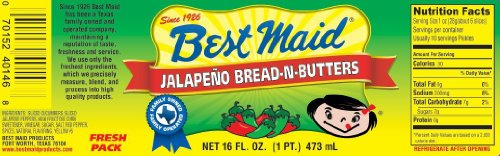 Best Maid Jalapeno Bread-N-Butters 16 Oz