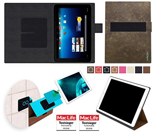 Hülle für Medion Lifetab E10320 Tasche Cover Case Bumper   Testsieger   Braun Wildleder