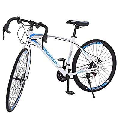 Begasso Shimanos Road Bike,700c 26in 21 Speed Aluminum Full Suspension Disc Brake Mountain Bike for Adults,Outdoor Bicycles for Men Women (Shipping Fast) (Color 2)