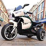 Delili Elektro Kindermotorrad, Kinder Cross Motorrad, Trike Elektrofahrzeug Mit Licht Und Sound,Weiß
